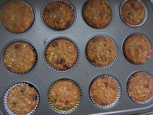 Oatmeal Muffins Done Pan