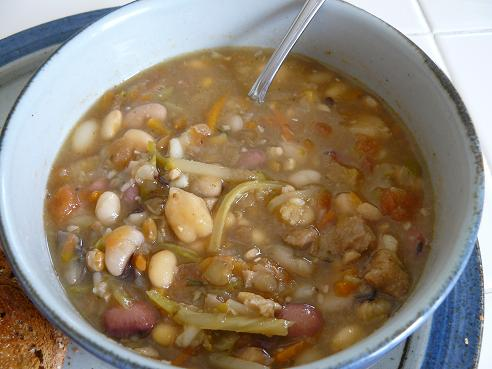 Vegan Veggie Bean Soup - Tip on the Vegan Diet from Healthy Diet Habits