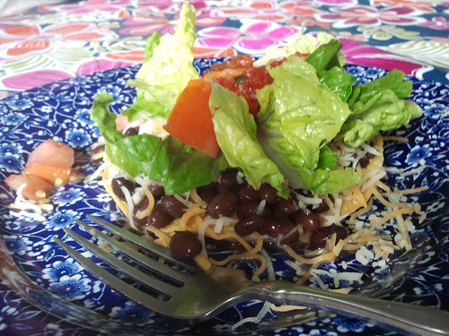 Black Bean Tostado Recipe