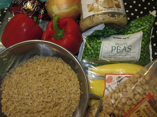 Vegetarian Fried Rice Ingredients