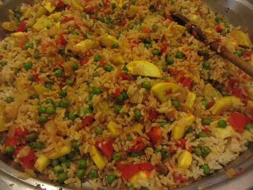 Leftover Ham Meal Ideas from Healthy Diet Habits - Ham and Vegetable Fried Rice