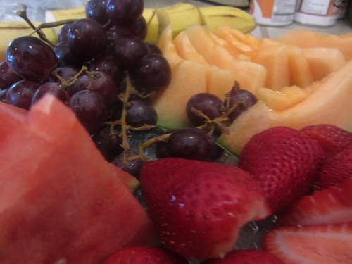 Simple sliced fruit