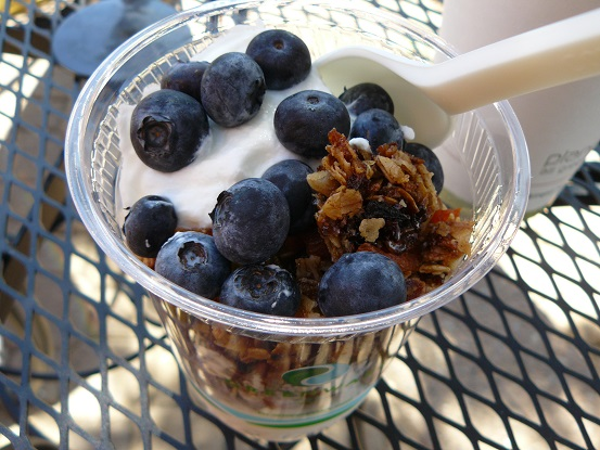 Granola with blueberries and yogurt!