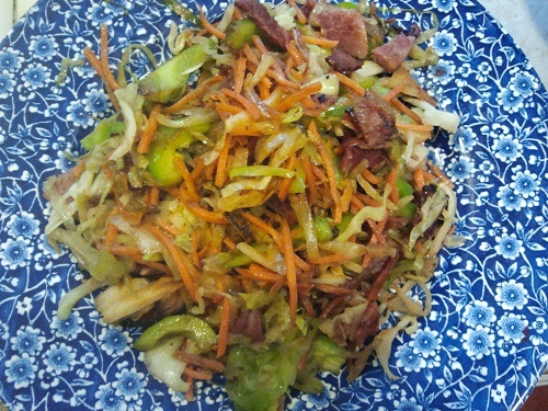 Ham and Cabbage Stir Fry Recipe from Healthy Diet Habits
