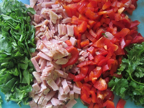 Ingredients for Simple Ham Pasta Recipe