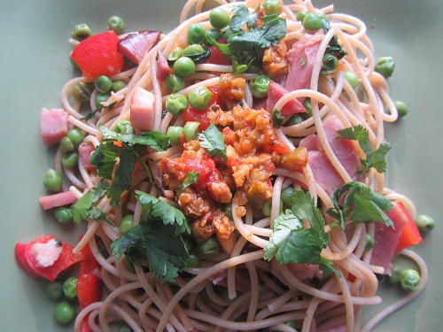 Leftover Ham Meal Ideas from Healthy Diet Habits - Ham Pasta