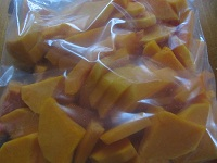 Chopped Butternut Squash to Freez