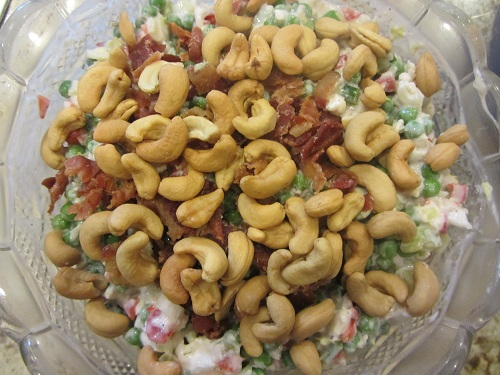 Cauliflower Pea Salad - Add Nuts at End