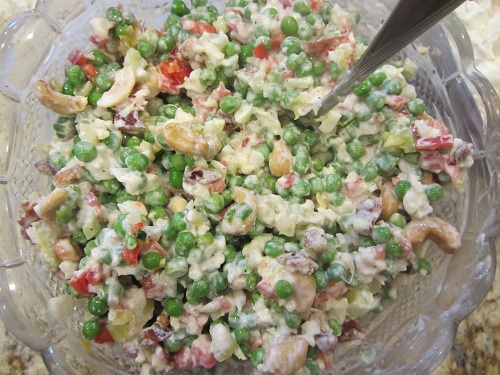 Cauliflower Pea Salad from Healthy Diet Habits