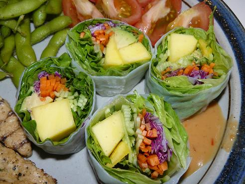 Healthy Fruit & Vegetable Salad rolls