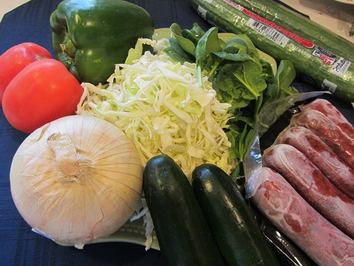 Sausage Stir Fry Ingredients