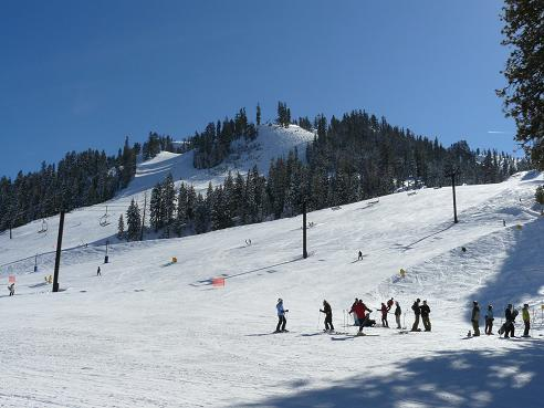 Skiing in Squaw Valley, Olympic Valley, CA