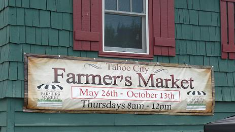 Tahoe City Farmers Market, Lake Tahoe, California - Tip on Eating Healthy Vacation Food by Healthy Diet Habits