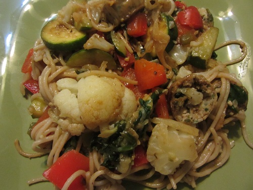 Seasonal Vegetable Pasta from Healthy Diet Habits