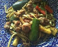 Sausage Veggie Pasta from Healthy Diet Habits
