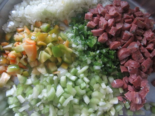 Acorn Squash soup veggies