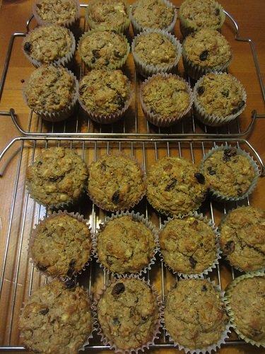 2 dozen apple muffins