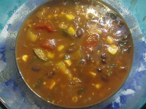 Black Bean Vegetable Soup