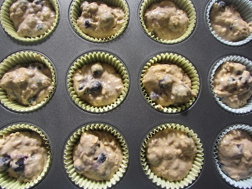 blueberry muffins ready to go