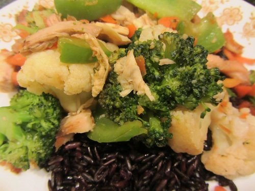 Chicken Stir Fry Recipe with Cauliflower and Broccoli from Healthy Diet Habits