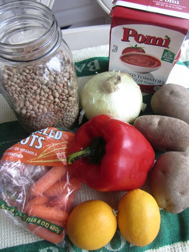 Ingredients for Lentil Cabbage Stew Recipe by Healthy Diet Habits