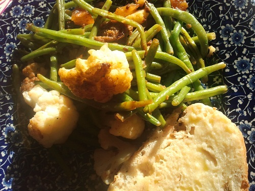 Sausage, Green Bean and Cauliflower Recipe by Healthy Diet Habits