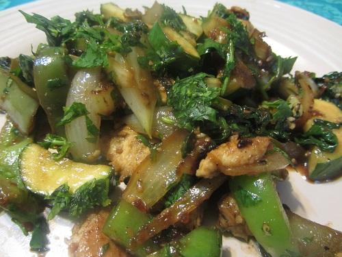 Chicken and Zucchini Stir Fry