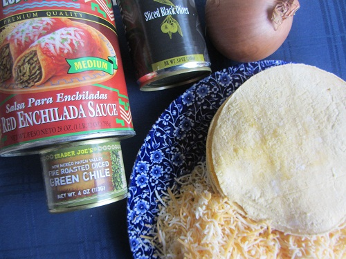 Ingredients for Stacked Enchilada Recipe