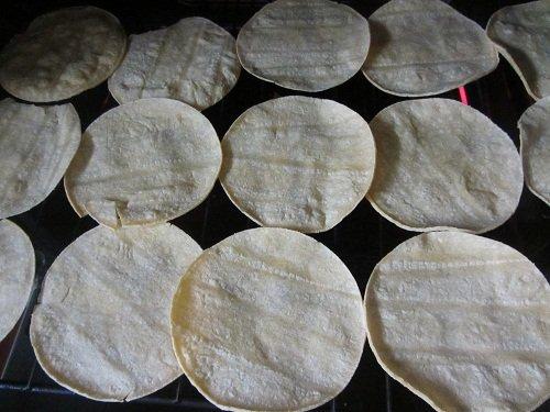 Baking Tortillas for Stacked Enchilada Recipe