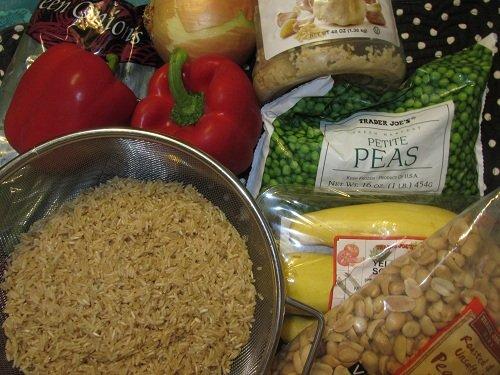Vegetarian Fried Rice Ingredients