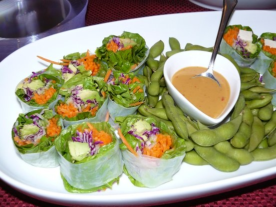 Healthy Suishi Salad Wraps