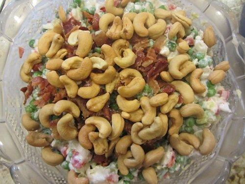 Cauliflower Pea Salad - Add Nuts at End