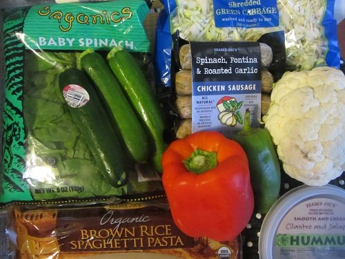 Seasonal Pasta Ingredients